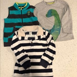 SIMPLE JOY and CARTERS dinosaur size 3T lot
